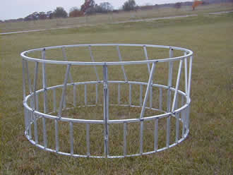 hay ring, hay ring feeder, hay bale feeder, round hay bale feeder, aluminum hay ring feeder, aluminum products from Five Star, round hay ring feeder